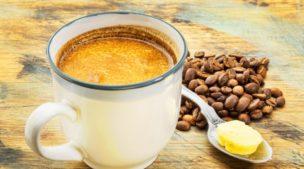 おいしそうなバターコーヒーの画像